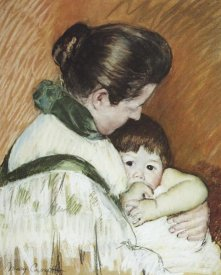 Mary Cassatt - Sleepy Thomas Sucking His Thumb 1893