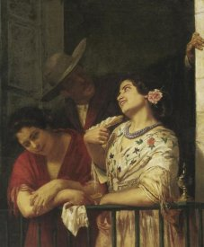 Mary Cassatt - The Flirtation A Balcony In Seville 1872