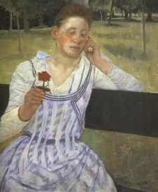 Mary Cassatt - Woman With A Red Zinnia 1891