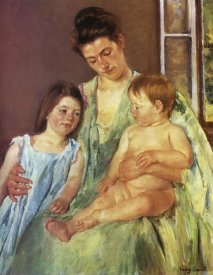 Mary Cassatt - Young Mother And Two Children 1905