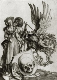 Albrecht Durer - Coat Of Arms With A Skull