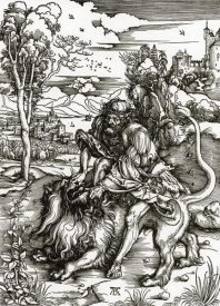 Albrecht Durer - Samson Killing The Lion