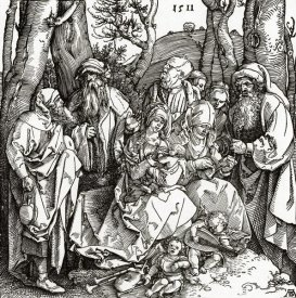 Albrecht Durer - The Holy Family With Saints And Angels