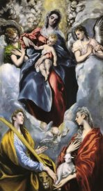 El Greco - The Virgin And Child With Saints Martina And Agnes