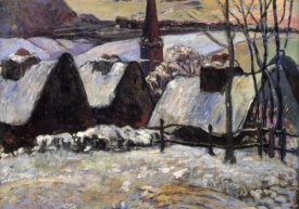 Paul Gauguin - Breton Village In The Snow