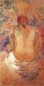 Paul Gauguin - Crouching Marquesain Woman Seen From The Back