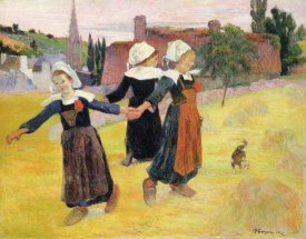 Paul Gauguin - Dancing A Round In The Haystacks