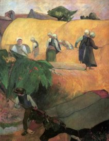 Paul Gauguin - Haymaking In Brittany