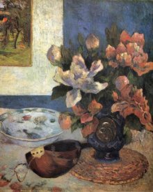 Paul Gauguin - Still Life With Peonies And Mandolin