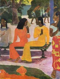 Paul Gauguin - We Shall Not Go To Market Detail