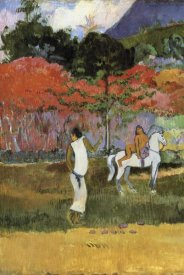 Paul Gauguin - Women And White Horse Detail