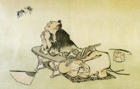 Hokusai - A Philosopher Watching Butterflies 1814