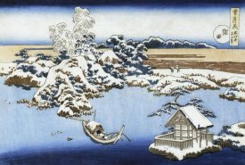 Hokusai - A View Of Sumida River In Snow