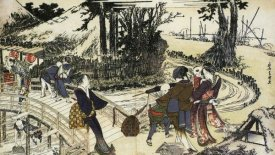 Hokusai - A Village By A Bridge 1798