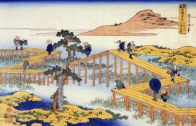 Hokusai - Admiring The Irises At Yatsuhashi In Mikawa