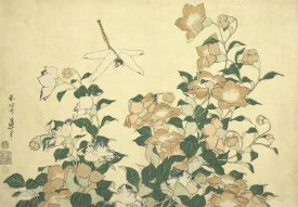 Hokusai - Bell Flower And Dragonfly