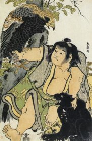 Hokusai - Kintaro And The Wild Animals 1780s