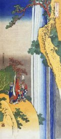 Hokusai - Li Po Admiring The Waterfall Of Lo Shan