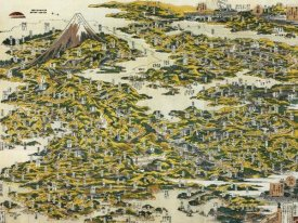 Hokusai - Map Of The Tokaido Road 1818
