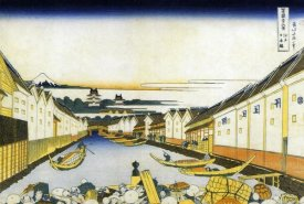 Hokusai - Mount Fuji And Edo Castle Seen From Nihonbashi 1834