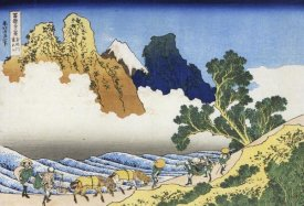Hokusai - Mount Fuji Seen From The Banks Of Minobu River 1835