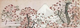 Katsushika Hokusai - Mount Fuji With Cherry Trees In Bloom, ca. 1800 - 1805