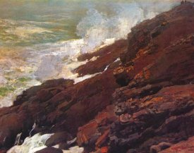 Winslow Homer - High Cliff Coast Of Maine
