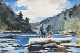 Winslow Homer - Hudson River Logging