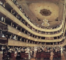 Gustav Klimt - Auditorium Of The Old Burgtheater 1888