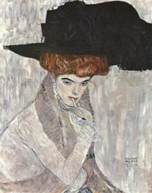 Gustav Klimt - Lady With Black Feather Hat 1910