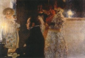 Gustav Klimt - Schubert At The Piano 1899