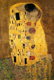 Gustav Klimt - The Kiss (detail 1)