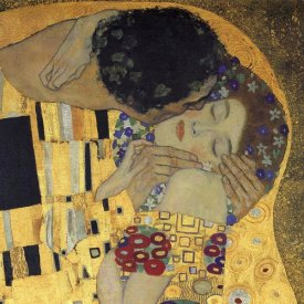 Gustav Klimt - The Kiss (detail 3)