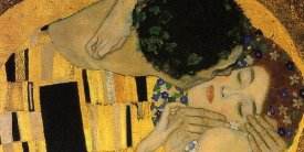 Gustav Klimt - The Kiss (detail 4)