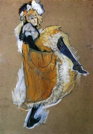 Henri Toulouse-Lautrec - Jane Avril Dancing