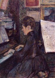 Henri Toulouse-Lautrec - Mlle Dihau Playing The Piano