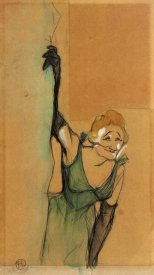 Henri Toulouse-Lautrec - Yvette Guilbert Taking A Bow