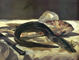 Edouard Manet - Eel and Red Mullet