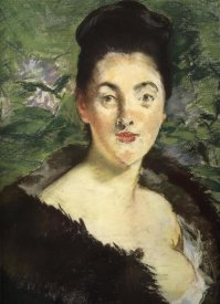 Edouard Manet - Mme Jules Guillemet in Furs