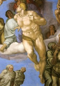 Michelangelo - Detail From The Last Judgement 14
