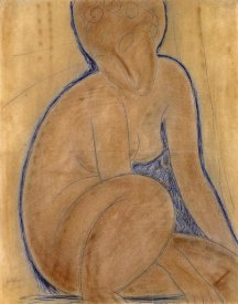 Amedeo Modigliani - Crouched Nude