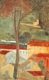 Amedeo Modigliani - Landscape At Cagnes