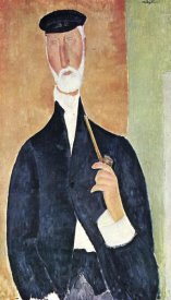 Amedeo Modigliani - Man With Pipe