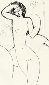 Amedeo Modigliani - Nude On Sofa