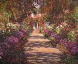 Claude Monet - A Lane In Monets Garden Giverny II