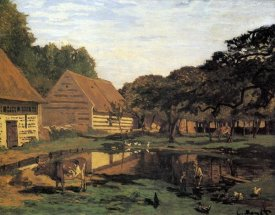 Claude Monet - Farmyard In Normandy 1863