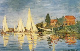 Claude Monet - Sailboats At Argenteuil