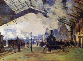 Claude Monet - St Lazare Station The Arrival Of The Train From Normandy