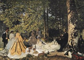 Claude Monet - Study For The Picnic Lunch 1865