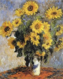Claude Monet - Bouquet of Sunflowers, 1880